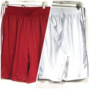 Adidas XL Basketball Shorts Red White Lot of 2